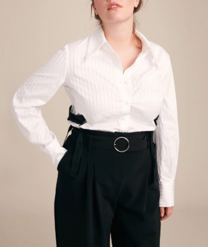 Cotton Shirt With Lacing Detail