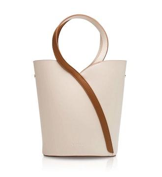 Morandi Rectangle Handle Crossbody Bag In Cream