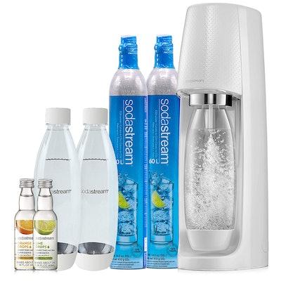 SodaStream Fizzi Sparkling Water Maker Bundle (White)