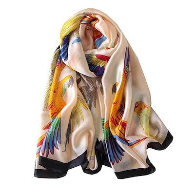 FM Womens Mulberry Silk Scarves