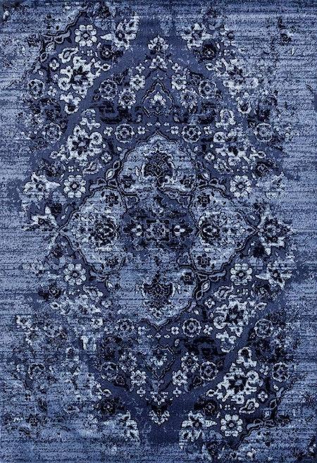 4620 Distressed Denim 5x7 Area Rug Carpet