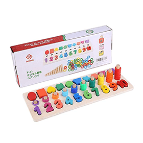 Montessori Math Shapes Puzzle Toys (3+)