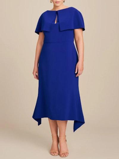 Crepe Dress with Swing Hem