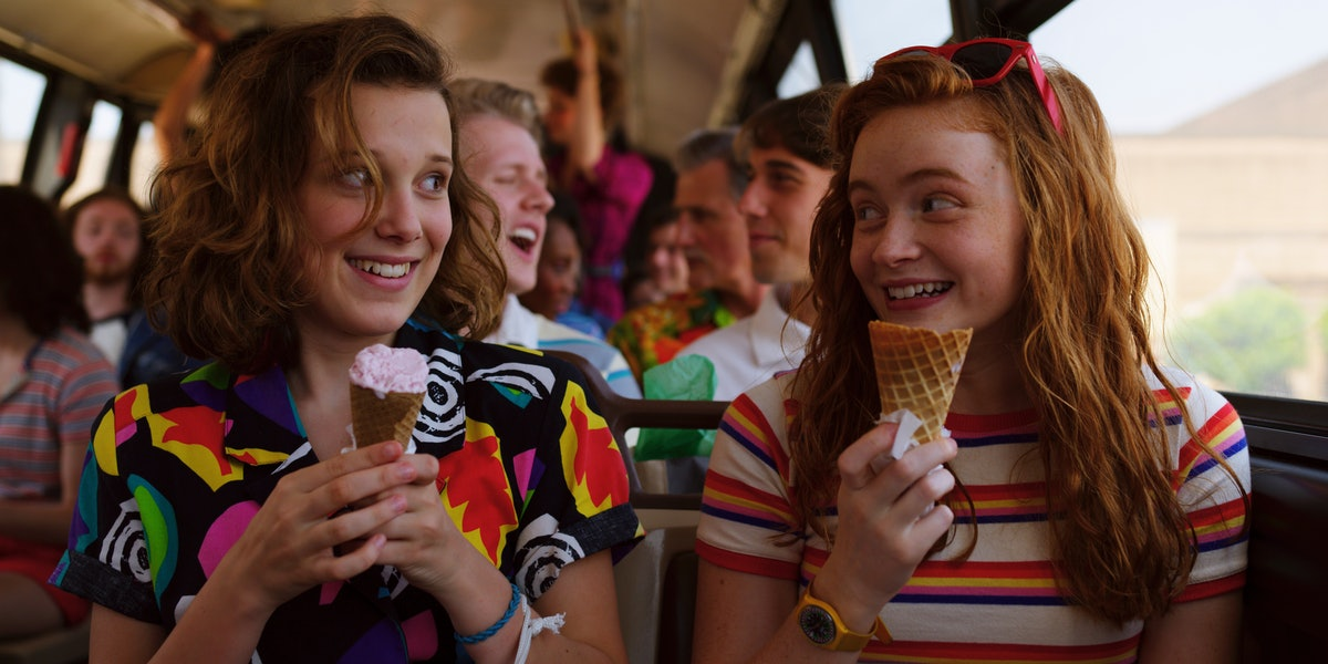 Millie Bobby Brown and Sadie Sink playing friends in 'Stranger Things'