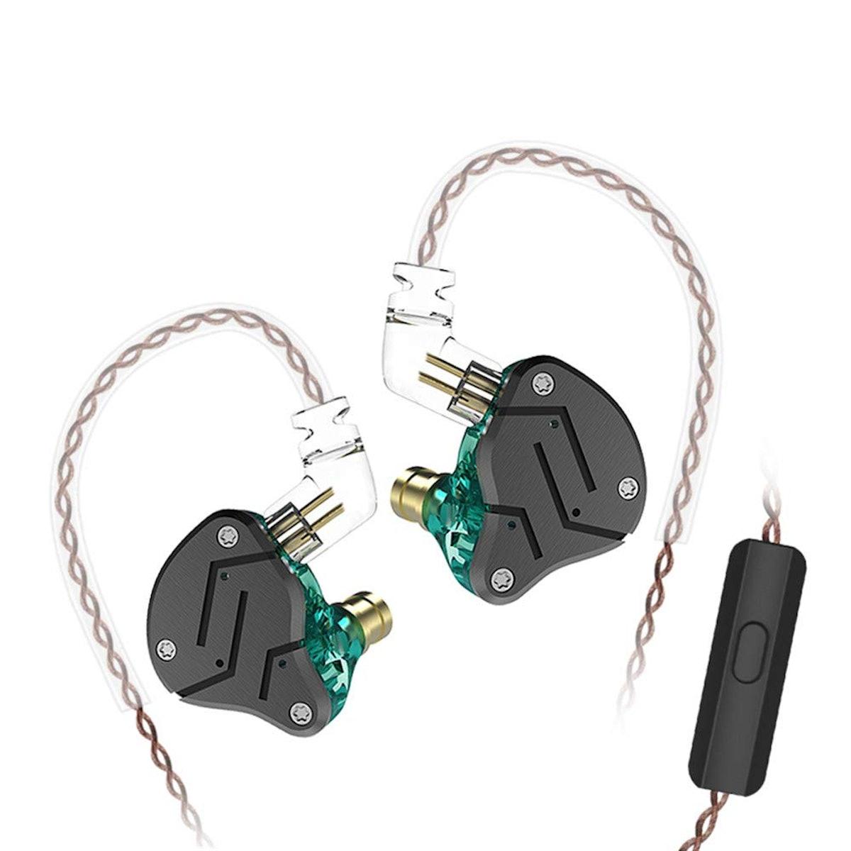 KZ ZSN Over Ear Earbuds Yinyoo HiFi Stereo Bass Sound IEM Headphones Noise Cancelling Earphone with ...