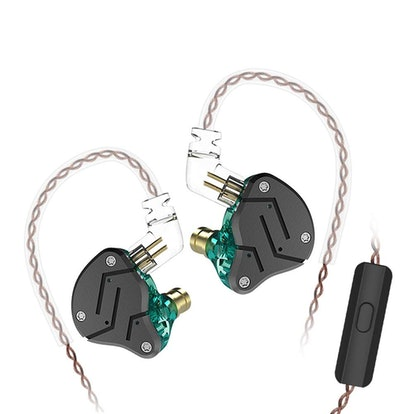 KZ ZSN Over Ear Earbuds Yinyoo HiFi Stereo Bass Sound IEM Headphones Noise Cancelling Earphone with Mic