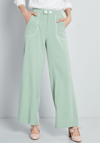 Outlined Delight Wide-Leg Pants