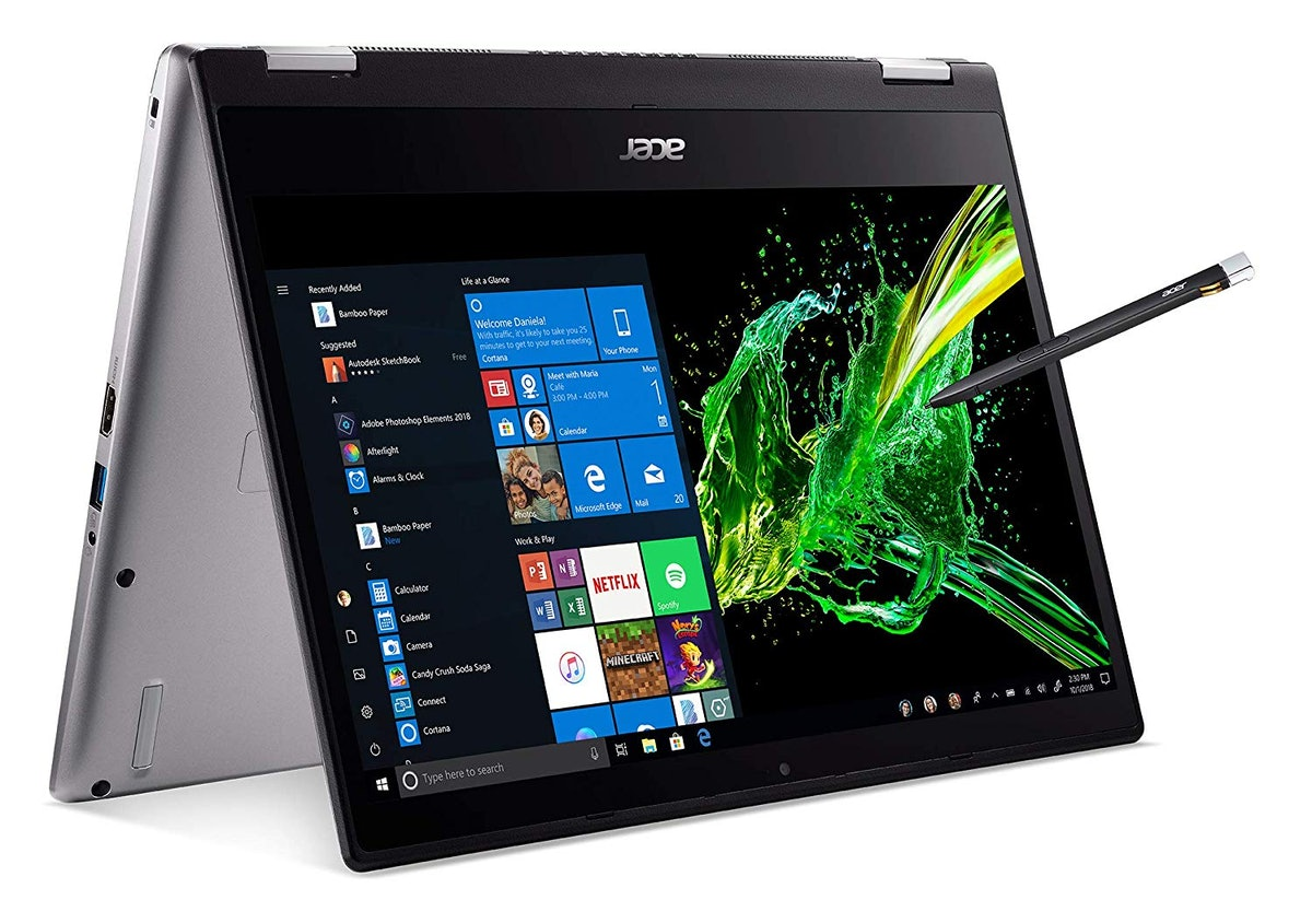 """Acer Spin 3 Convertible Laptop, 14"""" Full HD IPS Touch, 8th Gen Intel Core i7-8565U, 16GB"""