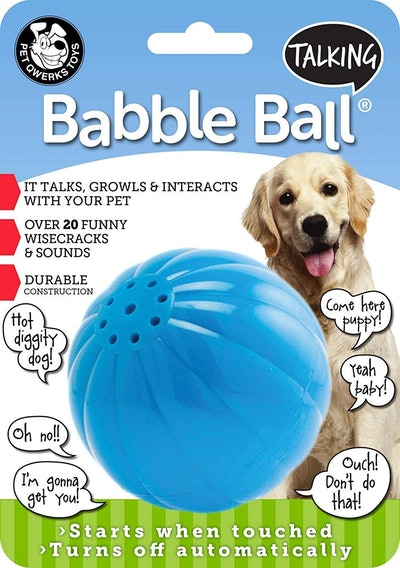 Pet Qwerks Talking Babble Ball Interactive Dog Toy
