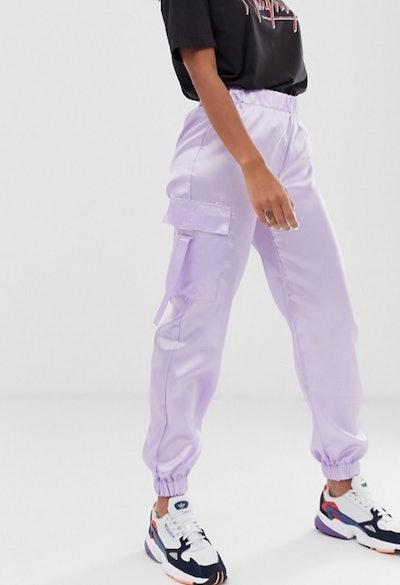 Inspired Satin Utility Sweatpants