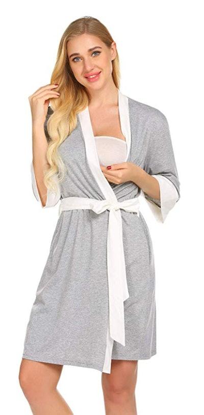 Ekouaer Maternity Nursing Robe