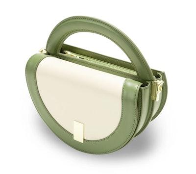 Circle Crossbody Bag in Stone Green