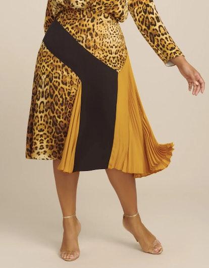 High Waisted Midi Length Skirt
