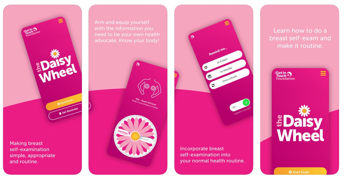 The Daisy Wheel App Teaches You How To Perform A Breast-Self Exam In 8 Easy Steps