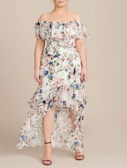 Hi-Low Ruffle Recut Gown