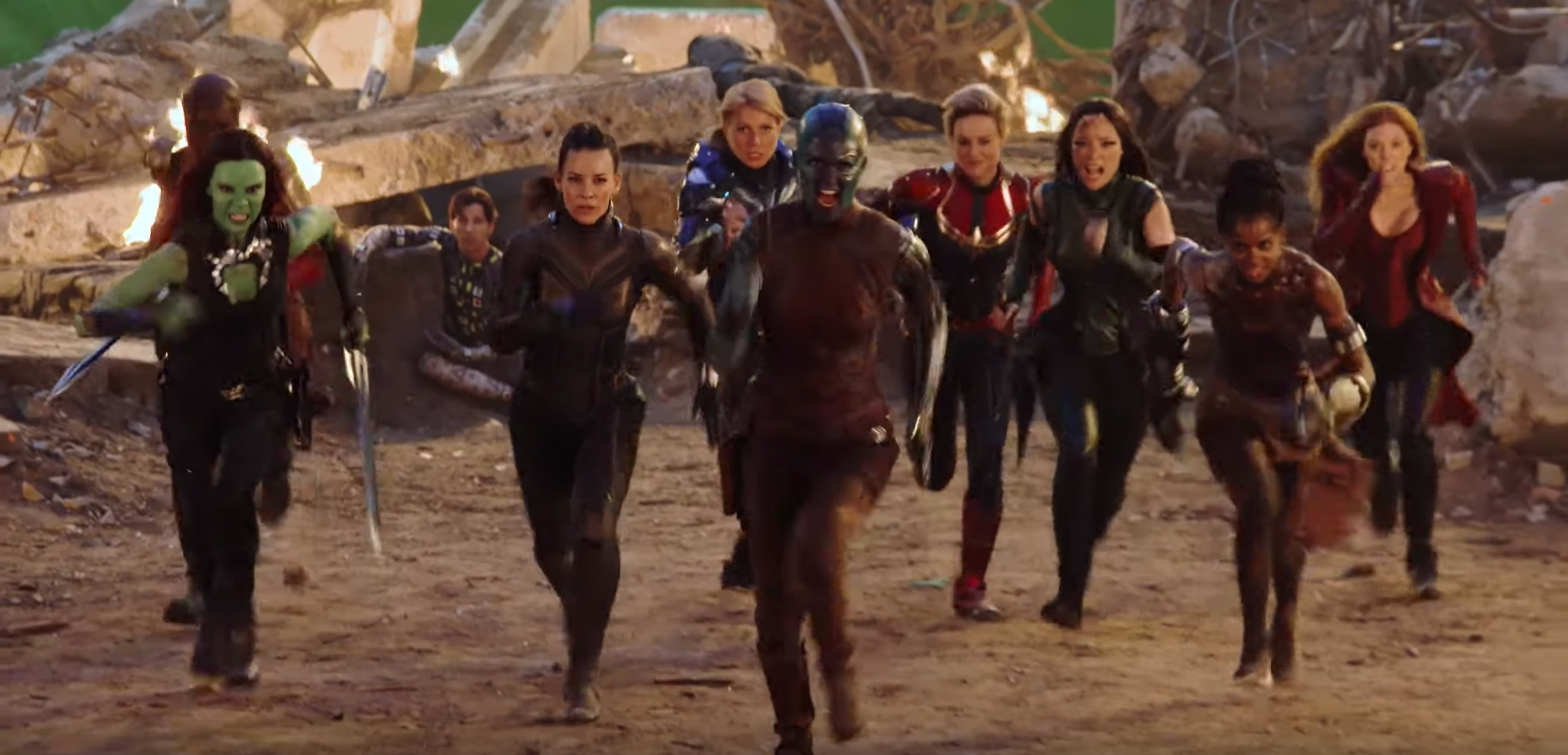 """The Women Heroes Scene In 'Endgame' Celebrates The Marvel """"Sisterhood,""""  According To The Cast — EXCLUSIVE VIDEO"""