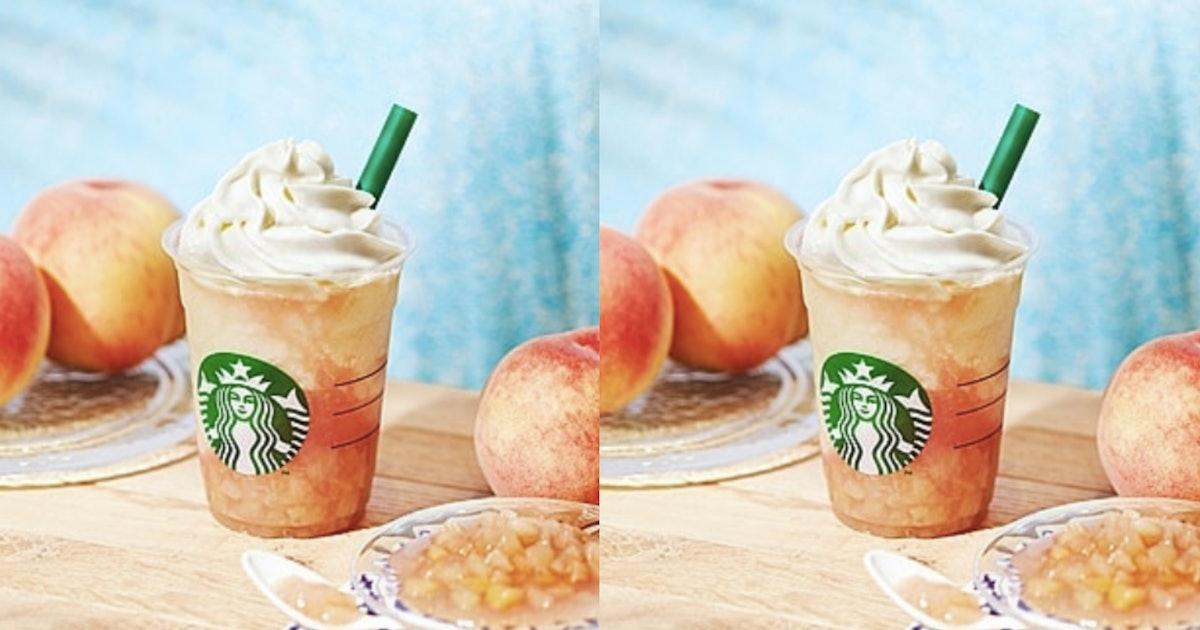 Starbucks Japan's Peach On The Beach Frappuccino Has Big Summer Vibes