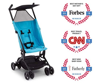 The Clutch Stroller by Delta Children - Lightweight Compact Folding Stroller - Includes Travel Bag -...