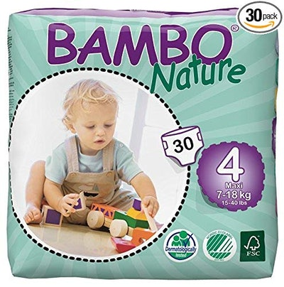 Eco Friendly Baby Diapers Classic for Sensitive Skin, Size 4, 30 Count