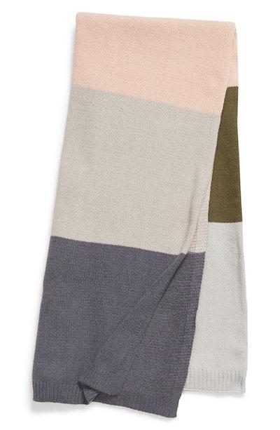 BP. Stripe Knit Throw Blanket