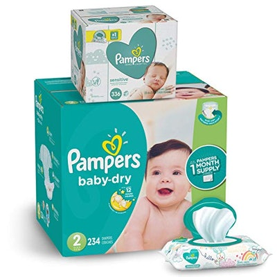 Baby Dry Disposable Baby Diapers, 234 Count