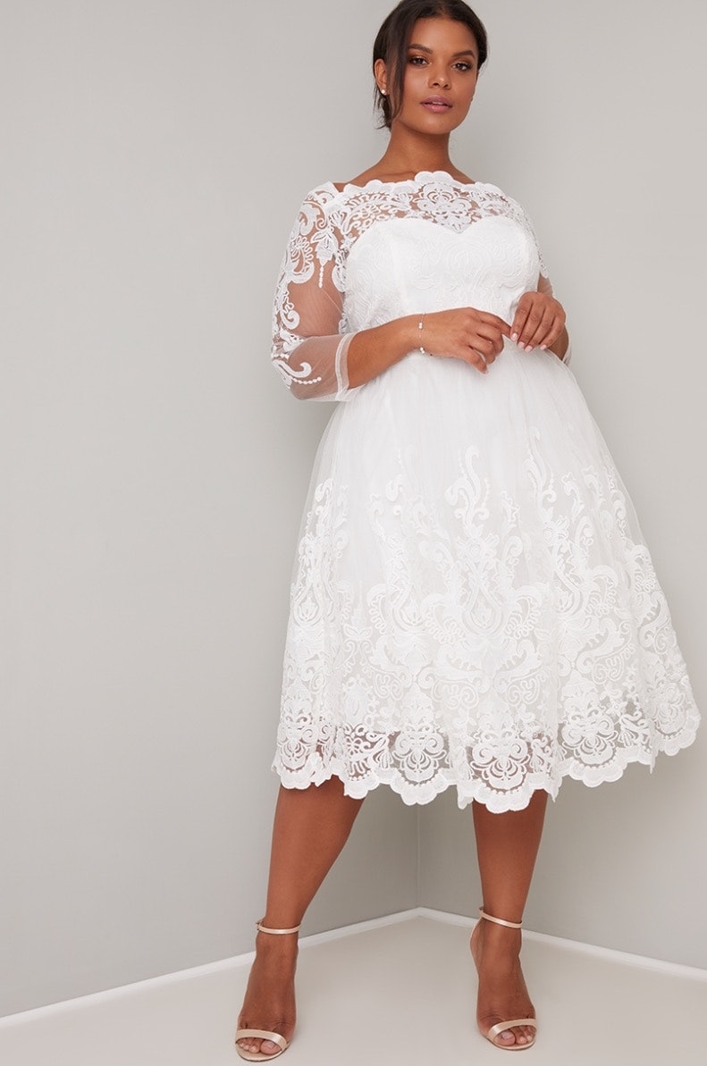 25 Best Plus Size Wedding Dresses Under 300 Because What You Wear Shouldn T Have To Cost A Month S Rent