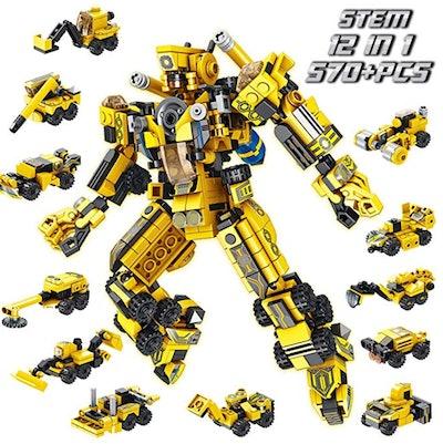 PANLOS Robot STEM Toy Engineering Building Blocks Building Bricks Toy Kit