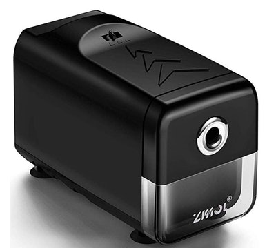 Electric Pencil Sharpener With Heavy Duty Helical Blade and Auto-Stop Feature