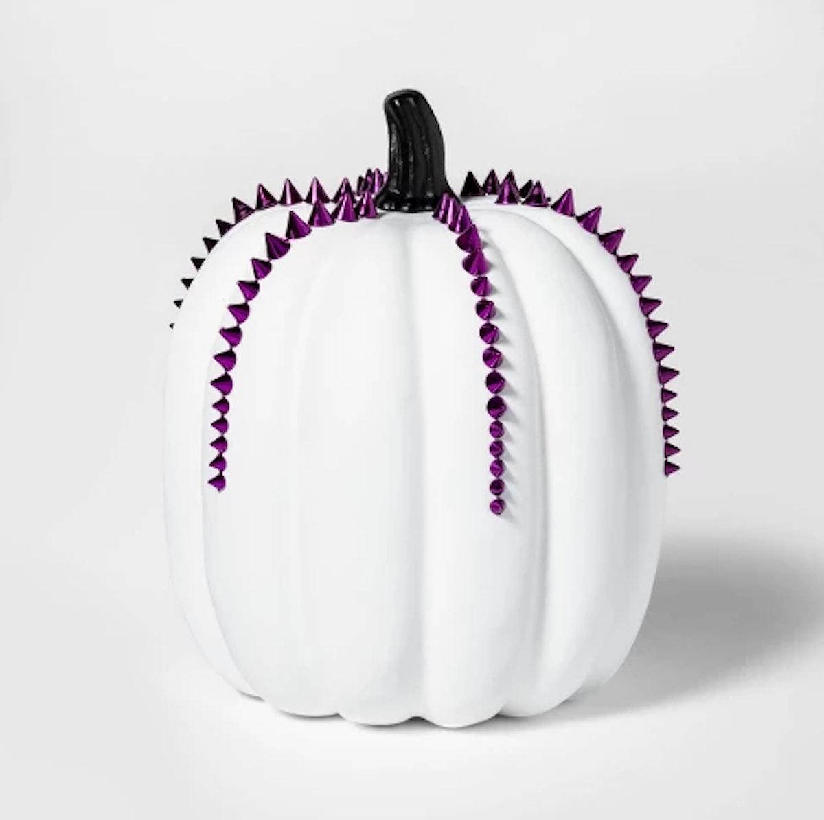 Studded Halloween Pumpkin Tall Medium White - Hyde and Eek! Boutique