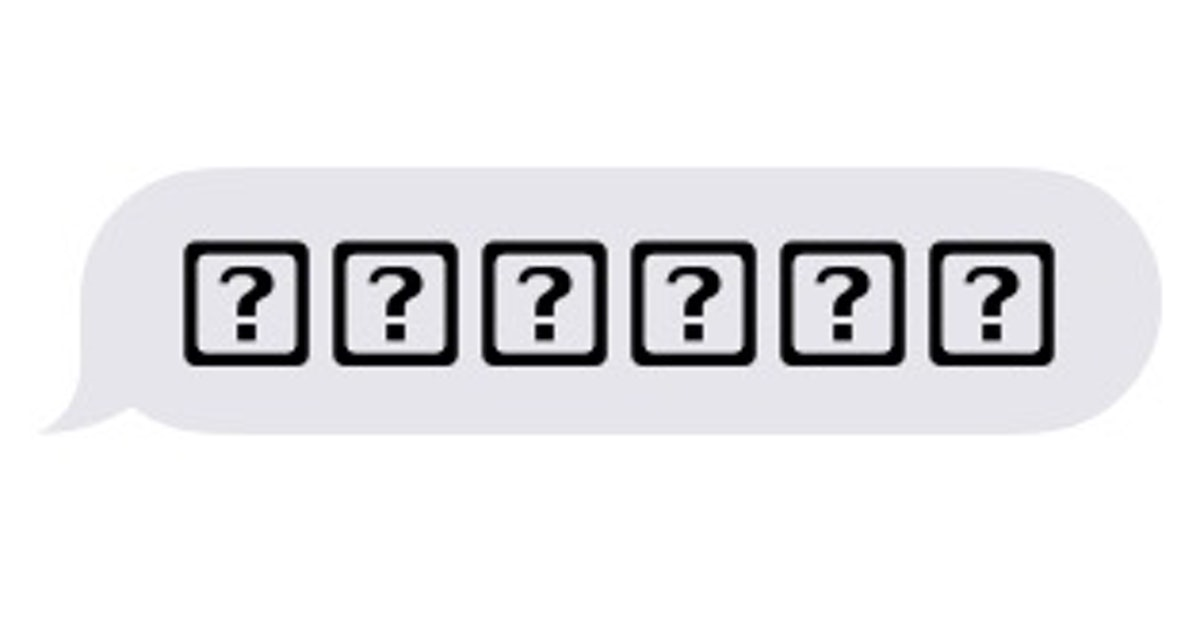 What Does The Emoji Question Mark In A Box Mean? It's Trying To Tell
