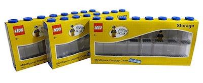 LEGO Minifigure Display Case with Bonus Minifigure 3-Pack