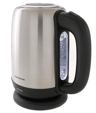 Ovente Electric Kettle Stainless Steel 1.7 Liter