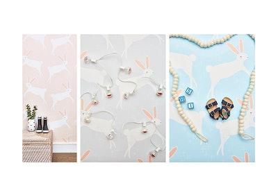 Leaping Bunnies Wallpaper