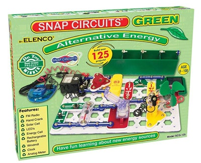 Snap Circuits Green Alternative Energy Electronics Exploration Kit