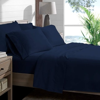 6 Piece 1800 Collection Deep Pocket Bed Sheet Set with 2 Extra Pillowcases