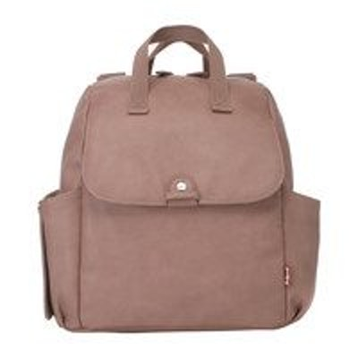 Robyn Faux Leather Convertible Backpack Diaper Bag, Dusty Rose