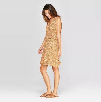 Universal Thread Women's Sleeveless V-Neck Wrap Dress