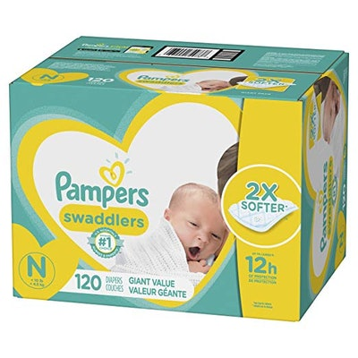 Swaddlers Newborn Diapers Size N 120 Count