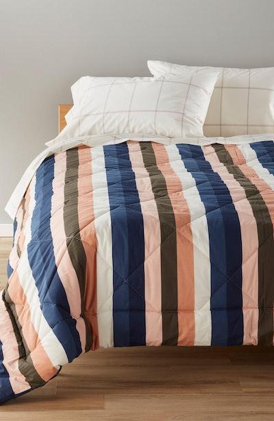 BP. Reversible Print Comforter & Check Sheet Set