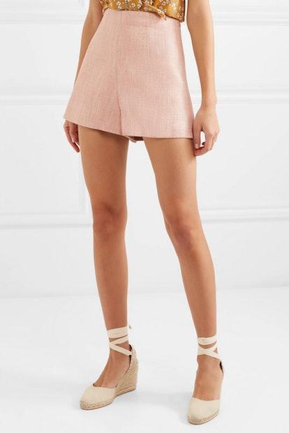 Huguet Herringbone Tweed Shorts