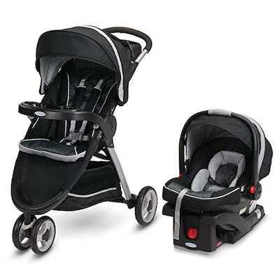 Fastaction Fold Sport Click Connect Travel System Stroller, Gotham, One Size