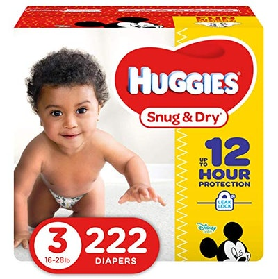 Snug & Dry Diapers, Size 3, 222 Count