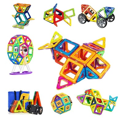 Magnetic Blocks, 110 Pieces Magnetic Tiles for Kids