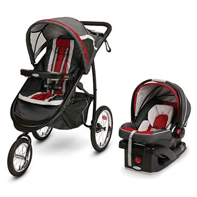 Fastaction Fold Jogger Click Connect Travel System, Chili Red