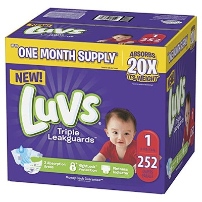 Ultra Leakguards Disposable Baby Diapers Newborn Size 1, 252Count
