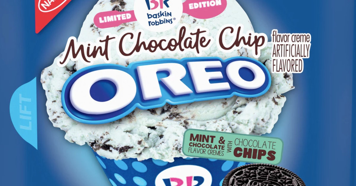 Baskin Robbins' Mint Chocolate Chip Oreos Officially Hit Shelves This Week