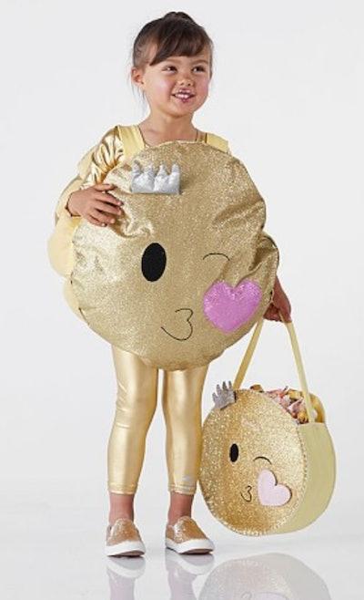 Toddler Glitter Emoji Costume
