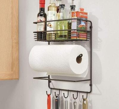 mDesign Metal Wall Mount Paper Towel Holder