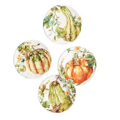 Pumpkin Patch Salad Plate Set