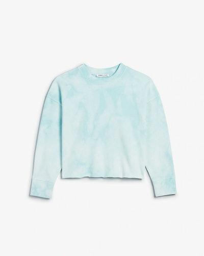 Tie Dye Cropped Crew Neck Sweatshirt